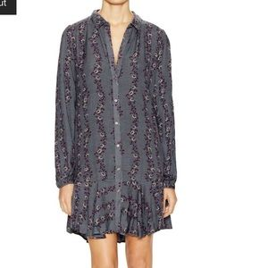 Free People Printed Flared Shirt Dress